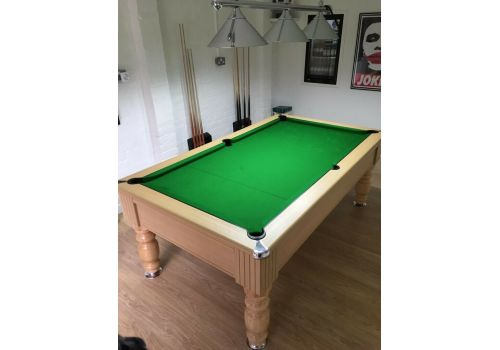 Monaco slate bed pool table by Optima in Light Oak With Smart Olive