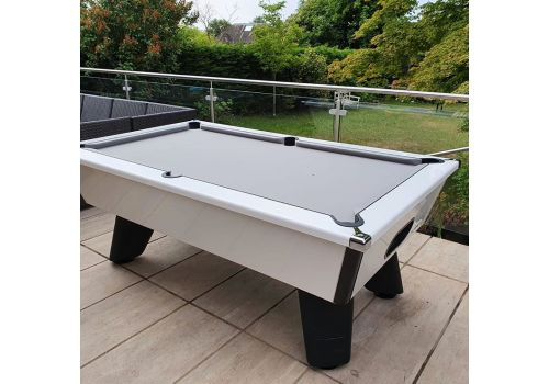 Outdoor White Wolf Gloss White Cry Wolf Original Tournament Edition Pool Table