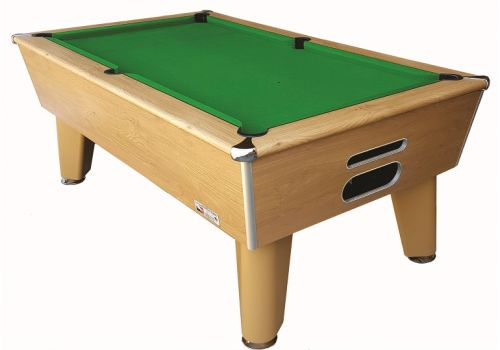 Classic slate bed pool table by Optima in Winchester Oak