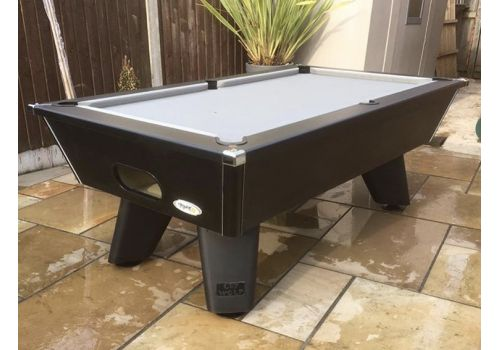 Black Wolf Matt Black Cry Wolf Original Tournament Edition Pool Table Elite Pro Bankers Grey