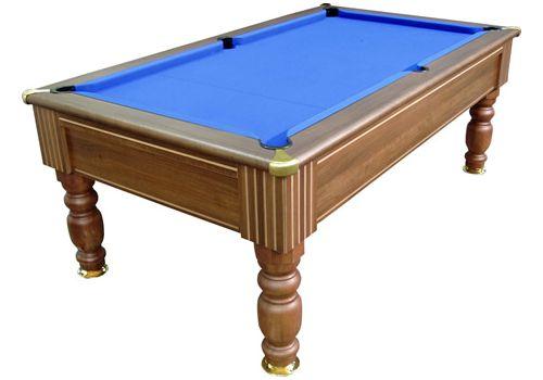 Monaco slate bed pool table by Optima in Dark Walnut