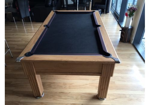 Gatley Traditional Pool Table - Supreme Slimline Prince Pool Table - Oak Black