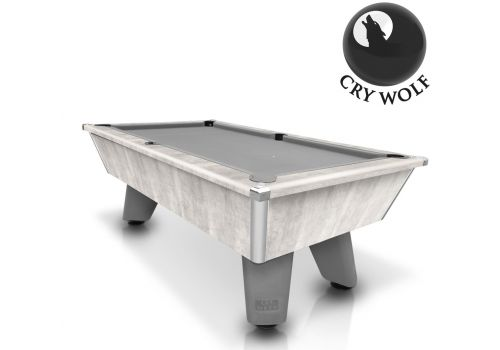 Cry Wolf | Grey Wolf | Urban Grey | Tournament Edition | Slate Pool Table | 6ft & 7ft | Smart Silver Cloth |