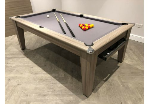 Gatley Classic Diner Pool Table in Driftwood with Smart Silver Cloth