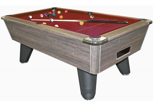 Supreme Heywood | Winner | Rustic | Slate Pool Table Burgundy
