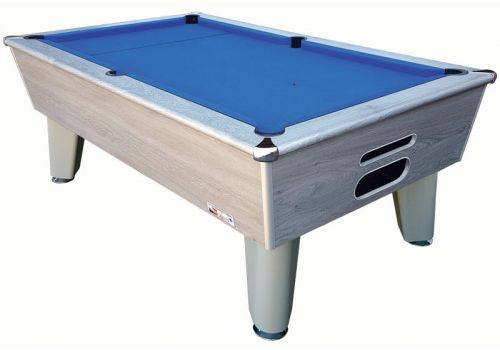 Optima | Classic | Silver | Slate Pool Table | 6ft & 7ft | Club Blue Cloth