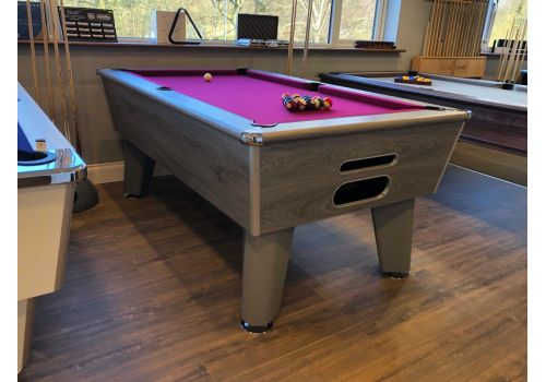 Optima | Classic | Silver | Slate Pool Table | 6ft & 7ft | Smart Maroon Cloth
