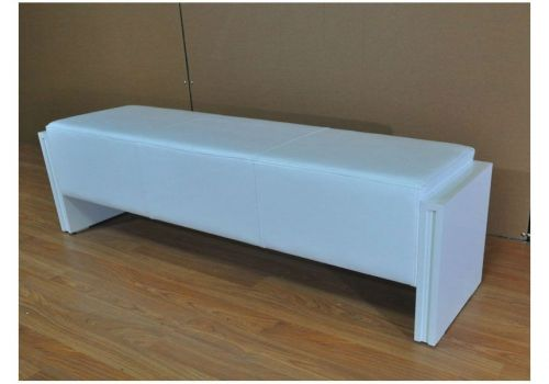 White Pool Diner Bench