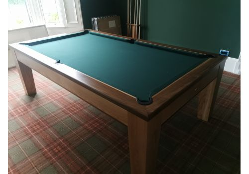 Rex Hardwood Fusion Icon Luxury Pool/Snooker Dining Table 7ft & 8ft Ranger Green Cloth