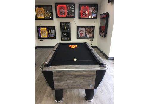 Sam | Atlantic Champion | Blue Oak | Luxury Slate Pool Table | 6ft & 7ft Sizes | Victoria Black Cloth
