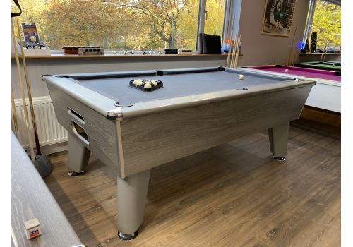 Optima | Classic | Silver | Slate Pool Table | 7ft | Smart Pewter Cloth