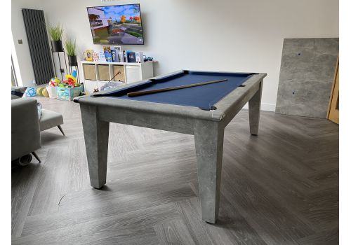 Italian Grey Gatley Classic Diner Pool Dining Table - Smart Navy