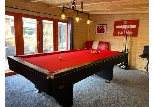 Buffalo | Eliminator 2 (II) | Black | American Pool Table | Elite Bright Red