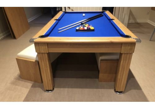 Gatley Traditional Diner Pool Table in Oak with Smart Royal Blue Cloth