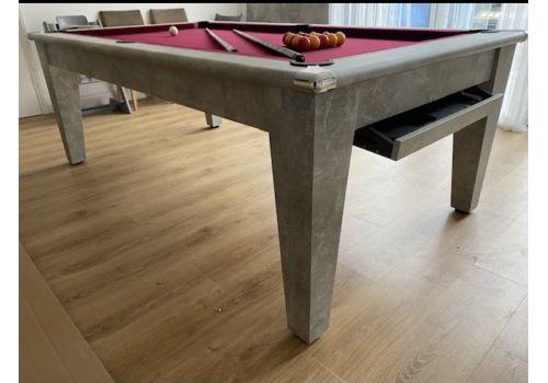 Italian Grey Gatley Classic Diner Pool Dining Table - Smart Maroon