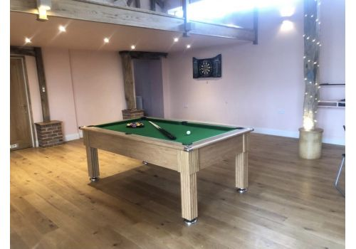 Gatley Traditional Pool Table - Supreme Slimline Prince Pool Table - Oak Green