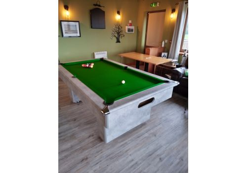 Gatley Classic Slimline Italian Grey Slate Pool Table 7ft Size Club Green