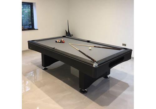 Buffalo | Eliminator 2 (II) | Black | American Pool Table | Elite Bankers Grey