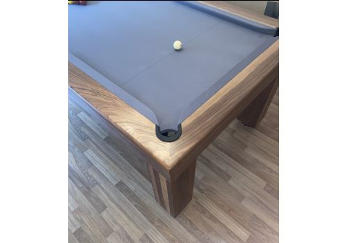 Rex Hardwood | Bonnie Badger | Luxury Slate Pool Dining Table | 6ft & 7ft | Walnut with Match Silver