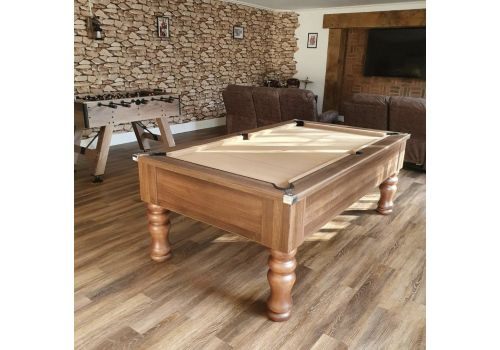 CryWolf Walnut Round/Turned Leg Pool Table with Smart Taupe Cloth