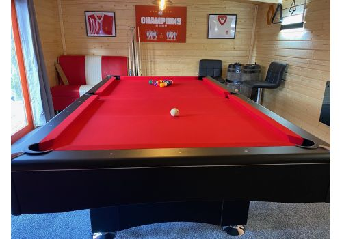 Buffalo | Eliminator 2 (II) | Black | American Pool Table | Elite Bright Red