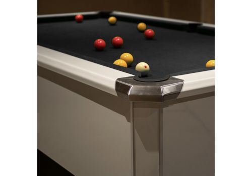 FMF Tournament Pro Gloss White Slate Bed Pool Table