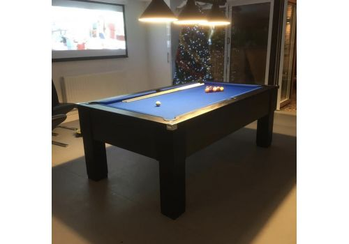 CryWolf Matt Black Square Leg Pool Table with