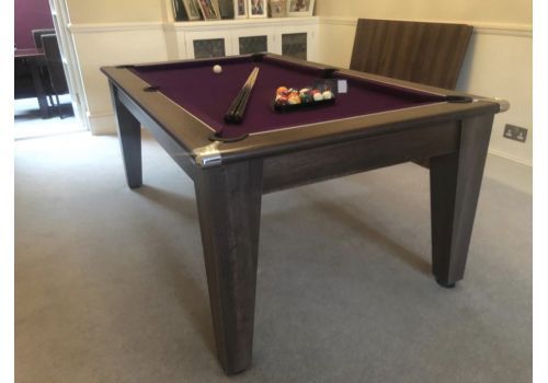 Classic Diner Pool Table by Gatley in Dark Walnut with Smart Purple Cloth