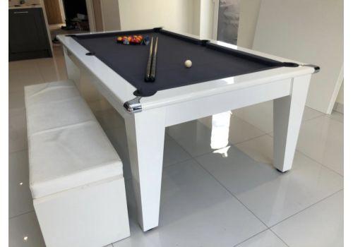 Gatley Classic Diner Gloss White Slate Pool Table 6ft & 7ft