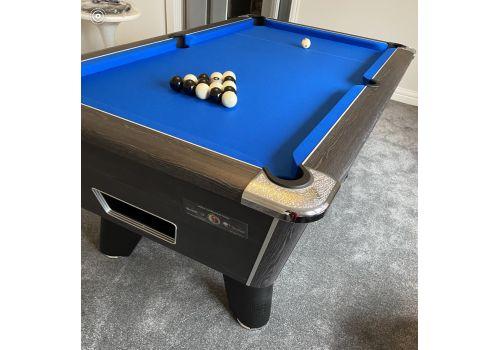 Supreme Winner Rustic Black Pool Table | Strachan Blue