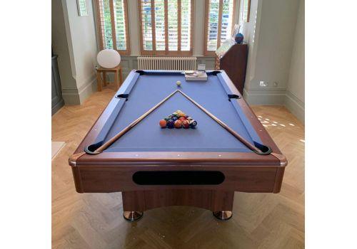 Buffalo   Eliminator 2 (II)   Walnut   American Pool Table   7ft with Elite Pro Cadet Blue