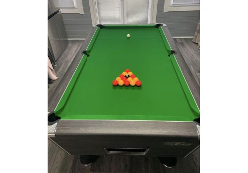 Supreme Winner Rustic Black Pool Table | Strachan Green