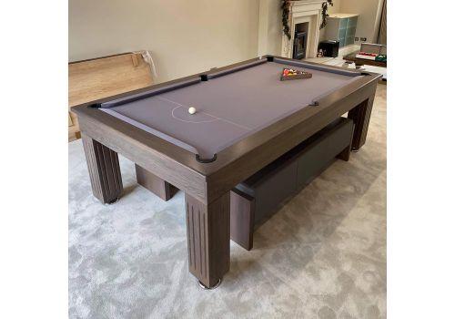 Rex Hardwood | Badger | Luxury Slate Pool Dining Table | 8ft | Chambord Smart Silver
