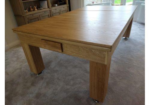 Rex Hardwood | Badger | Luxury Slate Pool Dining Table | 8ft | Solid Natural Oak  Purple