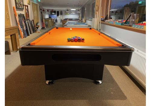 Buffalo | Eliminator 2 (II) | Black | 8ft American Pool Table | Elite Pro Orange