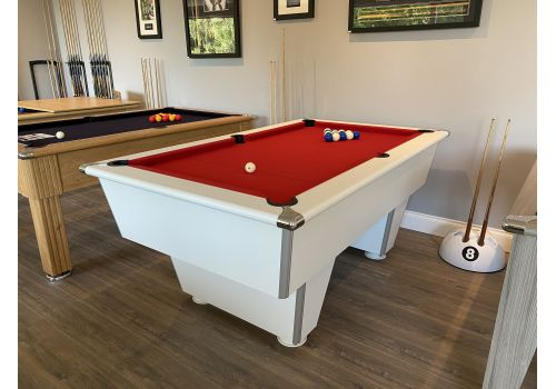 Gatley New Classic Club White Slate Pool Table In 6ft & 7ft Sizes