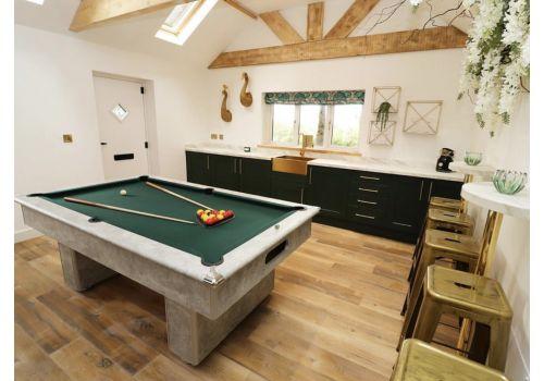 Gatley Classic Slimline Italian Grey Slate Pool Table 7ft Size Smart Ranger Green