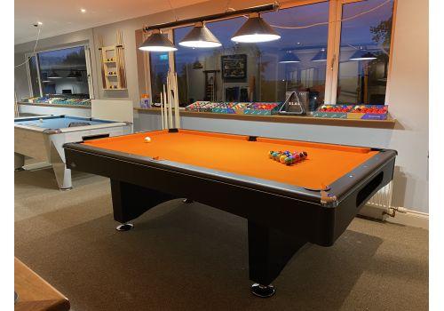 Buffalo | Eliminator 2 (II) | Black | 8ft American Pool Table | Elite Pro Orange