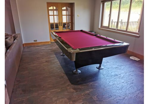 Buffalo Pro 2 (II) - Gloss Black - American Pool Table - 8ft & 9ft - Red Cloth
