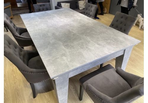 Italian Grey Gatley Classic Diner Pool Dining Table