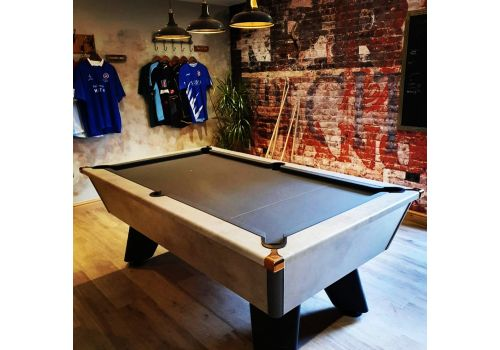 Cry Wolf | Grey Wolf | Urban Grey | Tournament Edition | Slate Pool Table | 6ft & 7ft | Smart Pewter Cloth | Rose Gold Corners