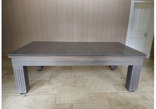 Rex Hardwood | Badger | Luxury Slate Pool Dining Table | 8ft | Chambord Taupe