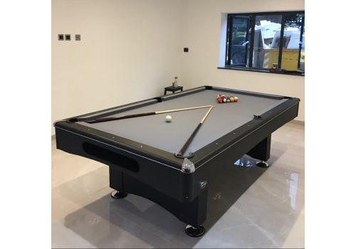 Buffalo | Eliminator 2 (II) | Black | American Pool Table | Elite Bankers Grey