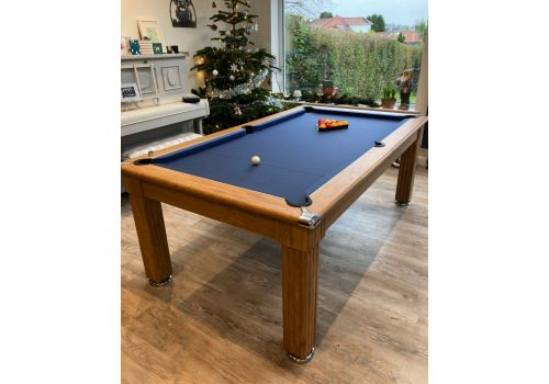 Gatley Traditional Diner Pool Table in Oak with Smart Navy Cloth