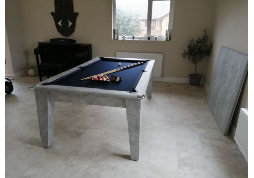 Italian Grey Gatley Classic Diner Pool Dining Table With Smart Royal Navy
