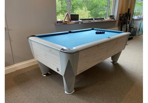 Sam | Atlantic Champion | Polar Oak | Luxury Slate Pool Table | 6ft & 7ft Sizes | Match Blue Cloth