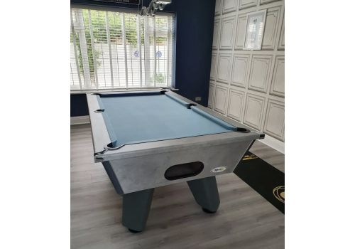 Cry Wolf | Grey Wolf | Urban Grey | Tournament Edition | Slate Pool Table | 6ft & 7ft | Smart Powder Blue Cloth |