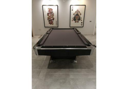 Buffalo Pro 2 (II) - Gloss Black - American Pool Table - 8ft & 9ft - Grey Cloth