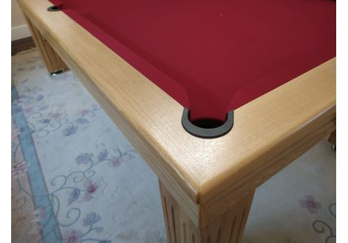 Rex Hardwood | Badger | Luxury Slate Pool Dining Table | 8ft | Solid Natural Burgundy
