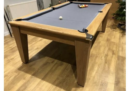 Gatley Classic Diner Pool Table in Oak with Silver Cloth